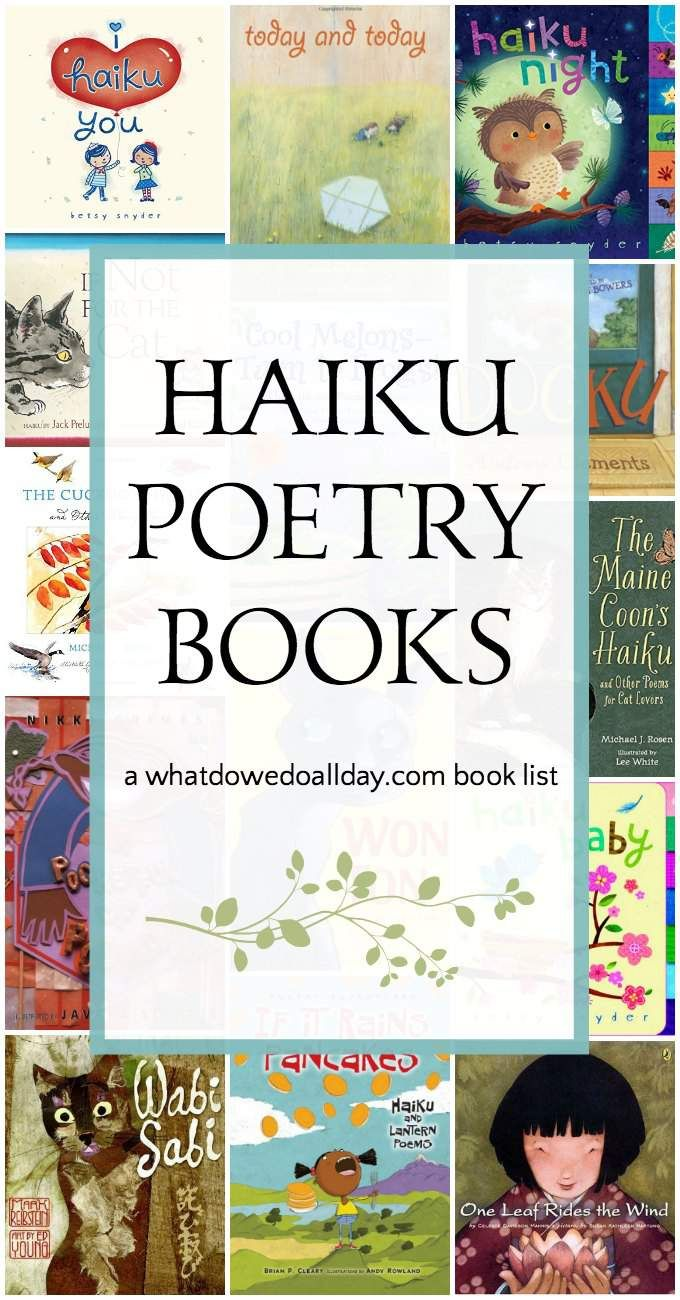 Wise and Wonderful Haiku Poetry Books for Kids #poetry