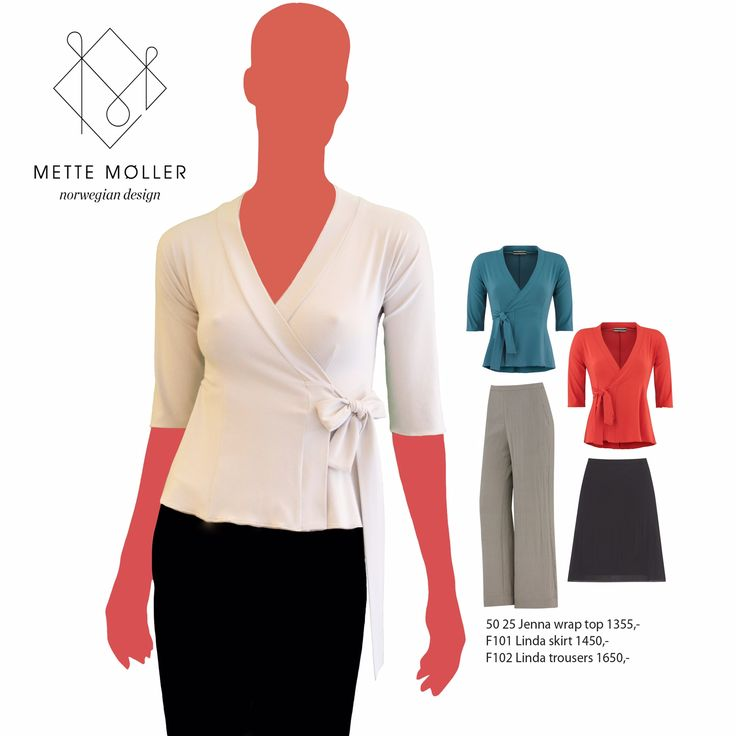 Jersey wrap top and linnen skirt and trousers from Mette Møller SS2015 collection. www.mettemoller.no