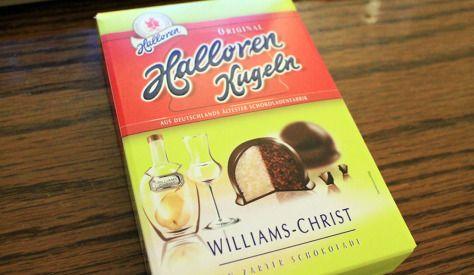 Halloren Kugeln Williams Christ Original Halloren Kugeln 83% Williams-Christ-Creme in 17% Zartbitterschokolade