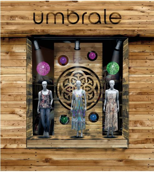 Fotomontaje visual merchandising umbrale