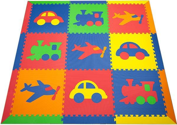 View this colorful interlocking foam mat that we have available at SoftTiles! Order this fun transportation design today for your child's playroom or bedroom.