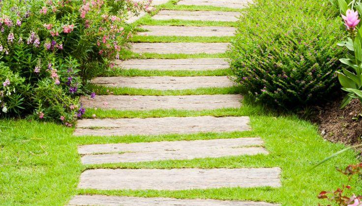 71 best garden path ideas vialetti camminamenti da giardino idee images on pinterest garden - Pietre camminamento giardino ...
