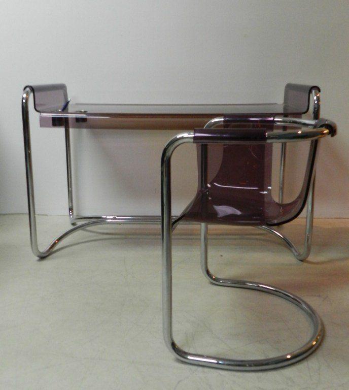 Fabio Lenci Lavander Lucite Desk & Chair 3
