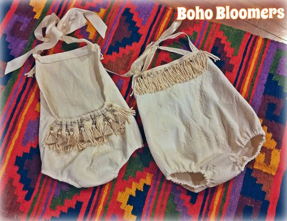 Girl Rompers Boho Romper Bohemian Clothing Baby by BohoBloomers