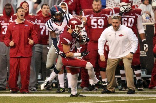 arkansas beats ole miss 30-0 | Nov 22, 2014; Fayetteville, AR, USA; Ole Miss Rebels quarterback Ryan ...