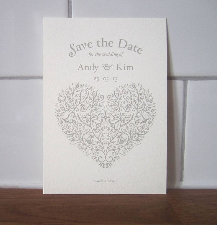 heart vintage style save the date card by lovat press | notonthehighstreet.com. I love this! Would this kind of thing be easier to do Clairey? xxx