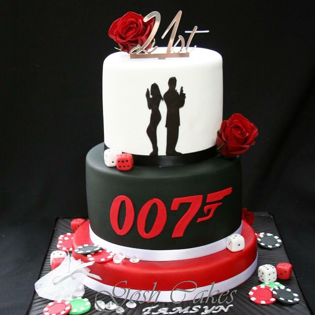 Casino cake James Bond cake 007 cake