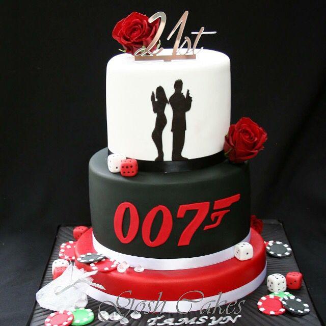 Casino cake James Bond cake 007 cake