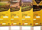 #Ticket  4 TOP Tickets Borussia Dortmund BVB  FC Augsburg Sitzplätze Westtribüne #deutschland