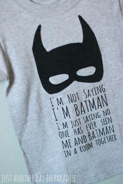 DIY Batman T-Shirt using Heat Transfer Vinyl and Silhouette Cameo