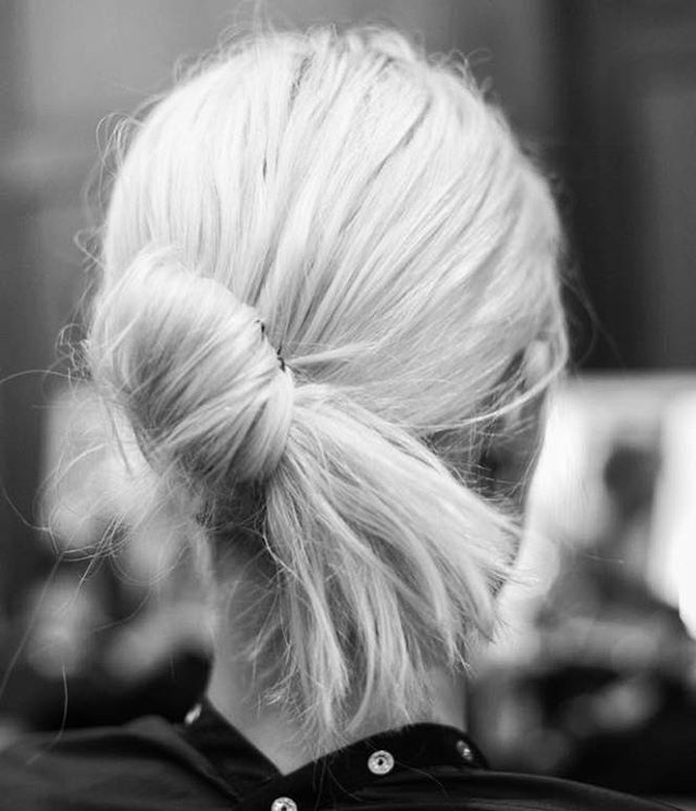 copy cat her hair: THE LAZY-GIRL CHIGNON – the how-to details on the blog now . . . . . #hairstyle #haircut #style #howto #haircolor #hairstylist #ha
