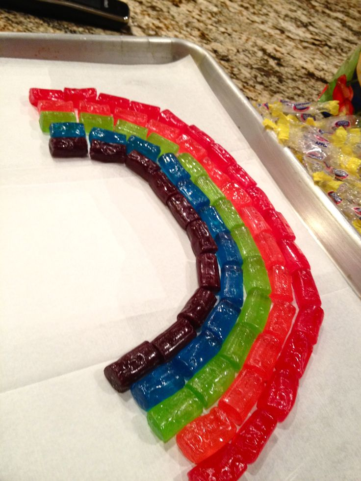 rainbow serving tray...hmmm might be fun to use hard candies from halloween....