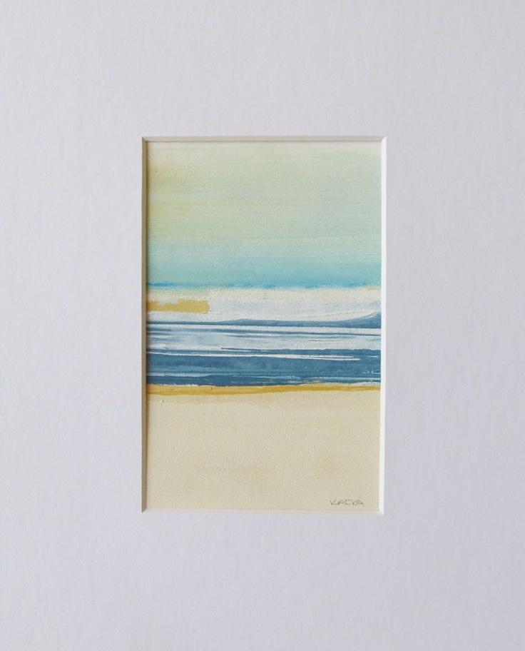 Art,Painting,Abstract Art,Fine Art,Acrylic,Paper,Original Art,tkafka,tracey kafka,Beach Day 10, via Etsy.