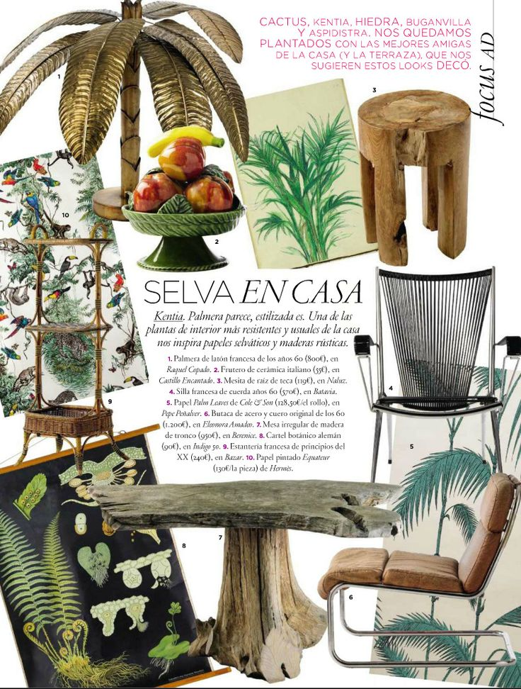 Tropical Style design trends from AD Spain