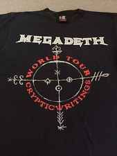 MEGADETH Shirt 1998 World Tour Cryptic Writings Japan Korea Dates USA Made M