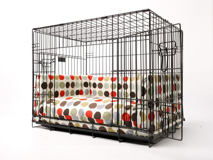 Dog crate mattress and bed bumper set in Great Spot
