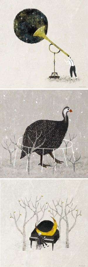 On the blog today: lovely whimsical works by Akira Kusaka http://www.artisticmoods.com/akira-kusaka/