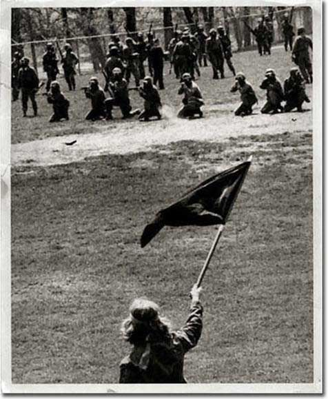 Massacre at Kent State by the Ohio National Guard of Unarmed Peaceful Student War Protestors - May 4, 1970.