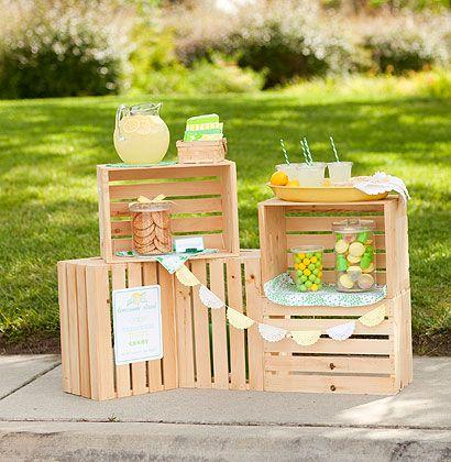 Un mueble-bar improvisado para tus fiestas en el jardín | Decoración 2.0