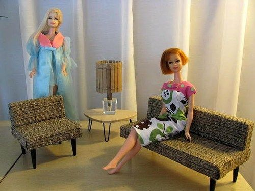 MID Century Modern Living Room SET Custom Made FOR Barbie Other 11 Part 90