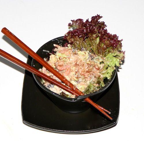 Een Japanse salade met een Hollandse twist! de Japanse mayonaise bevat suiker.