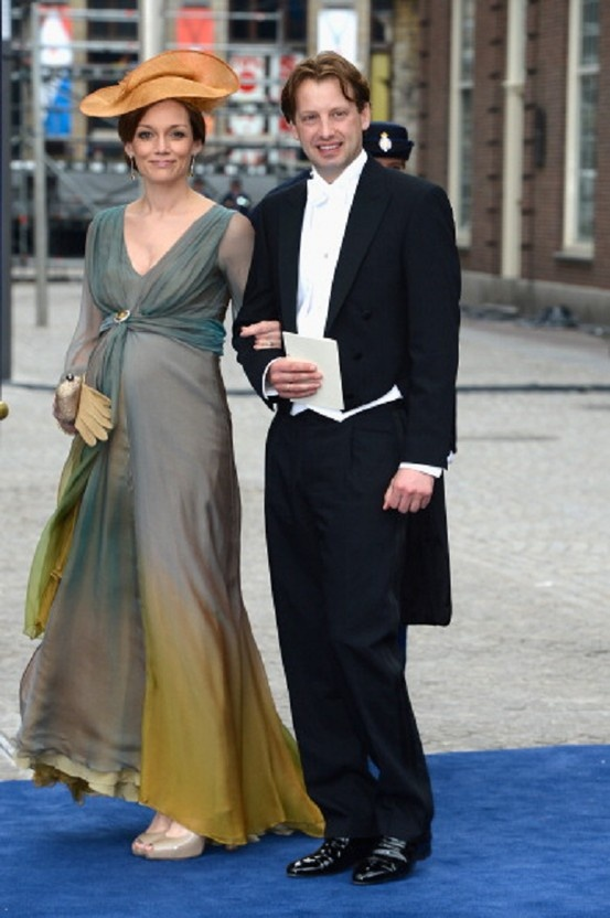 Prince Floris of Orange-Nassau and Princess Aimee of Orange-Nassau attends the inauguration ceremony for HM King Willem Alexander of the Netherlands