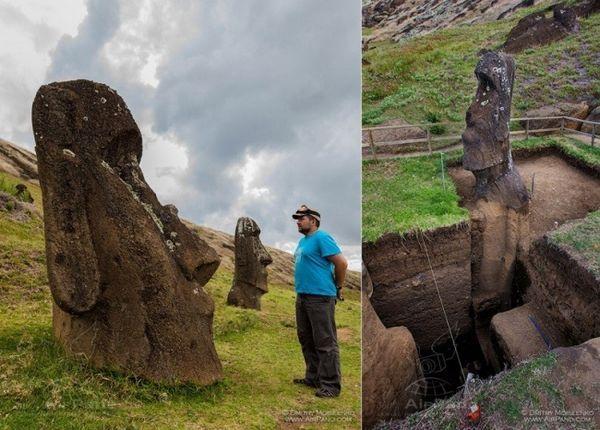 Estas antiguas estatuas han aparecido en multitud de videos, fotografías, reportajes, documentales y más. Son las famosas estatuas de la Isla de Pascua, conocidas como moáis en el idioma nativo. En ese idioma, a la isla se la conoce como Rapa Nui.