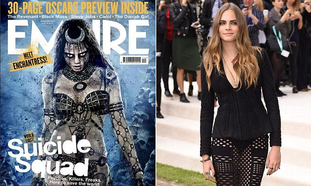 Cara Delevingne is as the evil Enchantress in DC's Suicide Squad