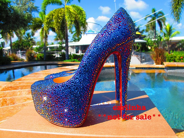 385a58e5d54 electric blue christian louboutin red bottom heels