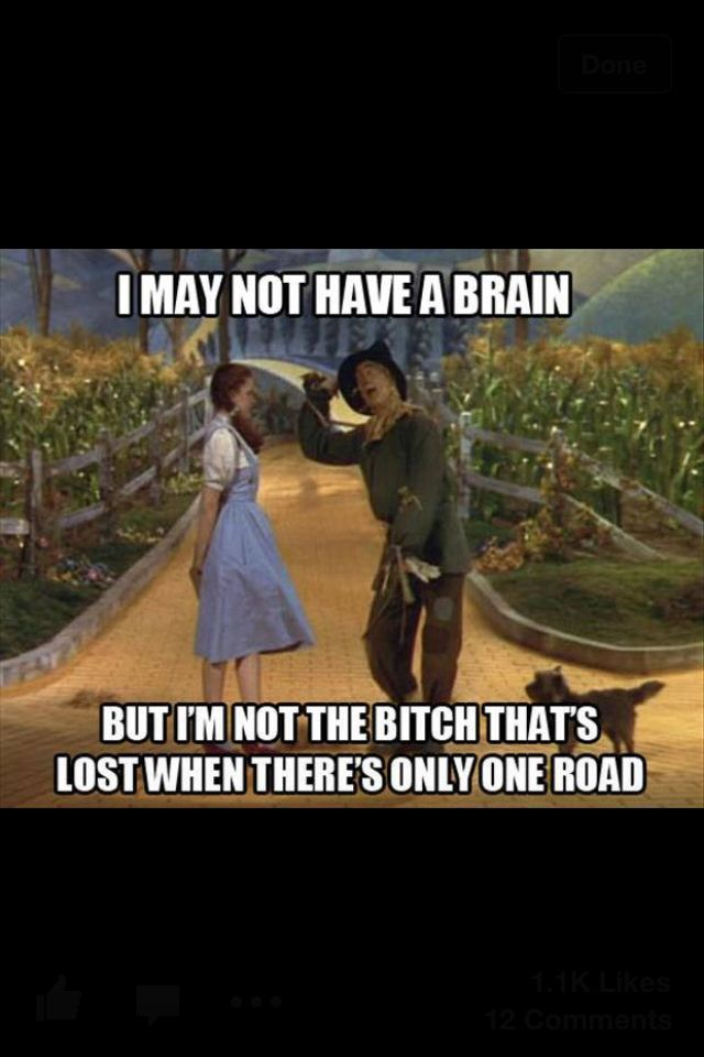 I truly hate this meme. There is a fork in the road in the movie and even in this picture :/