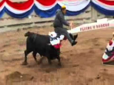 Jackass: Texas State Fair: Teeter Totter Dodge Bull Ride – I think that Jackass is on to something here, I think that while rodeo clowns are cool and all, that dodging a bull on a teeter totter is the way to go. It is a bit dangerous though...Johnny Knoxville and Ryan Dunn really get the bull by the horns...Ryan Dunn especially.