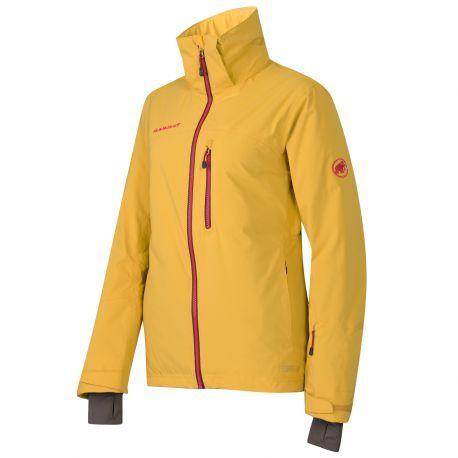 Le froid, quel froid ?  La veste de ski femme Nara Jacket de Mammut vous fera oublier la température.