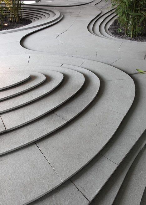 flowing organic steps landscape