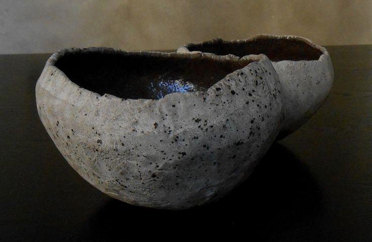 Vaso effetto pietra Stefano Toniolo ceramica organica.