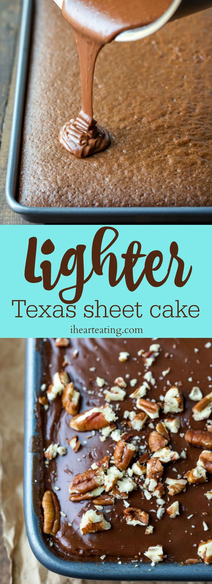 Lighter Texas Sheet Cake this skinny Texas sheet cake cuts fat and sugar but not the flavor!