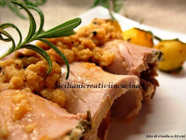 Arista di maiale al latte e rosmarino con patate