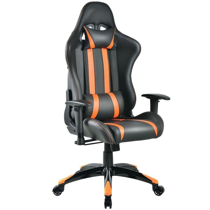 Giantex Racing High Back Reclining Gaming Chair Ergonomic Computer Desk Home Office Chair Modern Gaming Chairs HW53993OR #ergonomicofficechairmodern