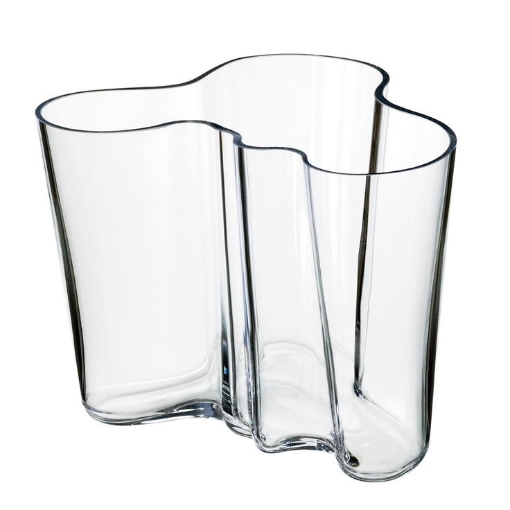 Alvar Aalto Vase 6.25 Clear by Iittala