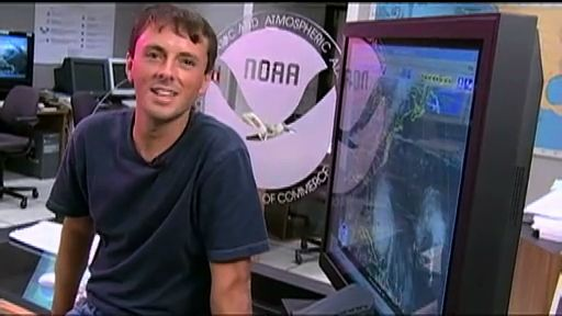 """Jason Dunion is a hurricane researcher. It's his job to find out what makes hurricanes tick by studying the """"eye"""" of the storm. As a boy, Jason often tape-recorded himself as a weather person going after nasty storms. Now, as a researcher for NOAA's Hurricane Division, he flies directly into the center of the hurricane!"""