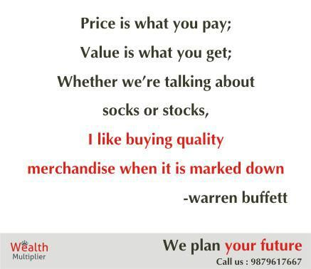 Buy quality stocks, when market gives discount offer. #Investment #PlanYourFuture