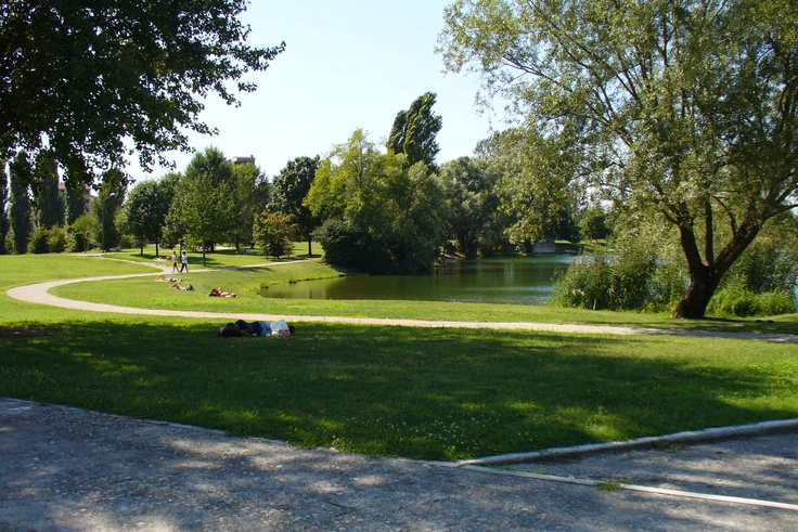 Peaceful rest place in Milan city, Italy