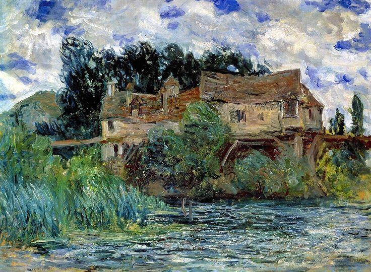Maisons sur le vieux pont de Vernon-Claude Monet by michelangelo5 (Flickr)