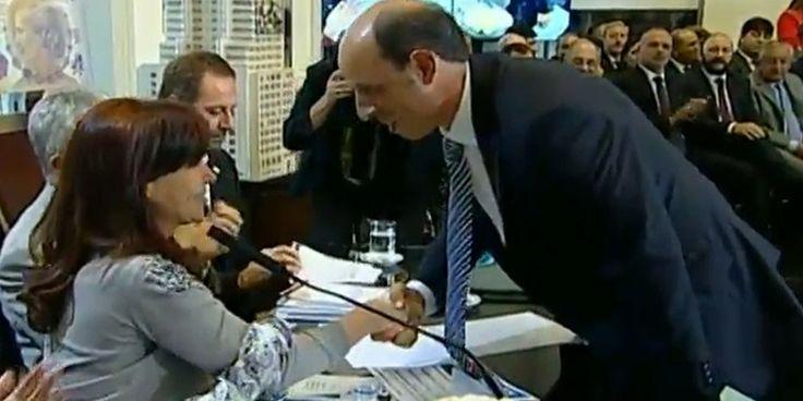 Cristina Fernandez de Kirchner y Adrián Cannellotto