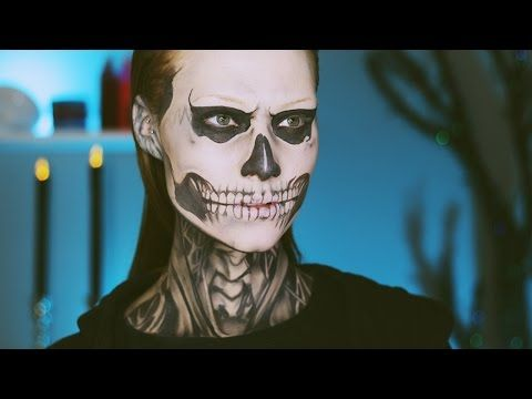 TATE LANGDON (EVAN PETERS) SKULL MAKEUP TUTORIAL♡ AMERICAN HORROR STORY SERIES - YouTube