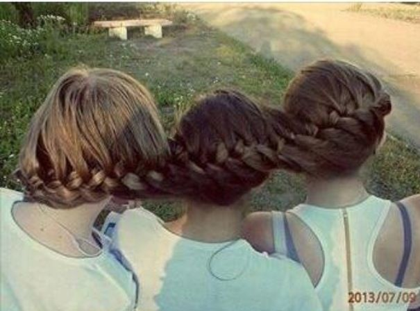 10 best hair images on pinterest hairstyles beauty queens and three person braid so got to try this any volunteers with long hair ccuart Choice Image