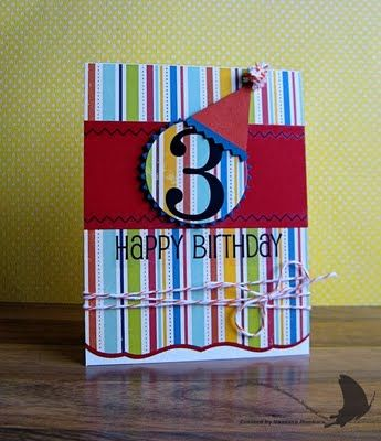 Vanessa's kid b-day card is great for a boy or girl!