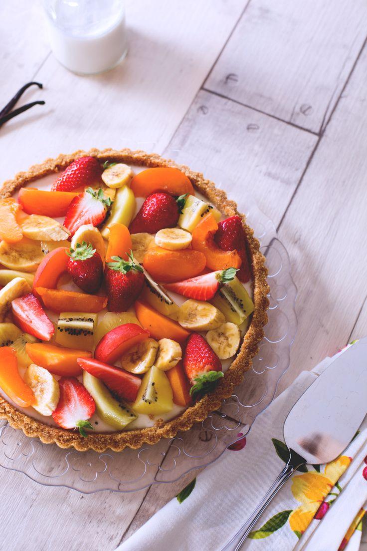 Se avete voglia di un #dessert goloso e fresco come la #crostata di frutta ma preferite non accendere il forno, ecco la soluzione per voi: crostata #senza #cottura! ( no cooked #tart ) #Giallozafferano #recipe #ricetta #fruit #sweet #cake