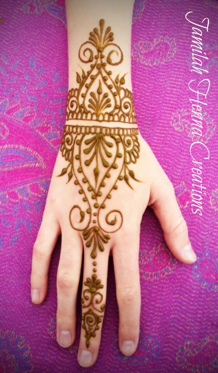 cuff hand design henna www.JamilahHennaCreations.com
