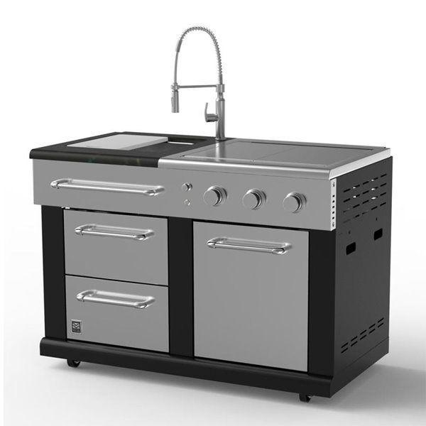 Master Forge Modular Sink With 36 000 Btu Side Burners Btu Burners Forge Master Modul In 2020 Modular Outdoor Kitchens Outdoor Kitchen Appliances Outdoor Kitchen