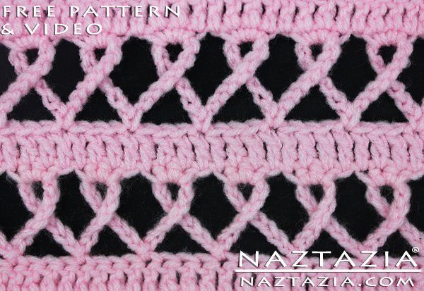 DIY Free Pattern Crochet Pink Ribbon Awareness Breast Cancer Blanket Afghan Throw and Matching Scarf and Shawl also for Other Causes with YouTube Tutorial Video by Naztazia